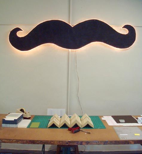 moustache light