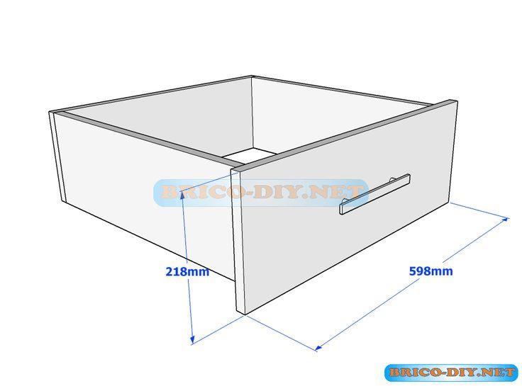 Plano cajón de melamina madera para ropero