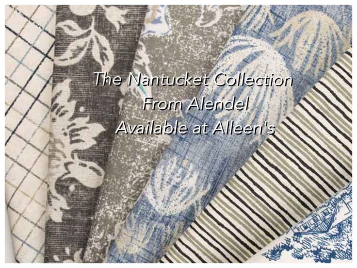 The Nantucket Collection from #AlendelFabrics available at Alleen's Custom Window Treatments