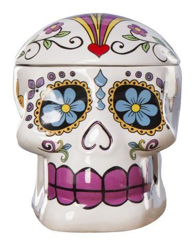 Sugar Skull Cookie Jar