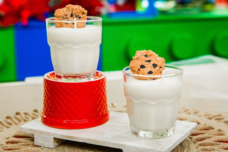 Cookies and milk candles that make the perfect holiday gift! DIY by Orly Shani and don't miss Home & Family weekdays at 10a/9c on Hallmark Channel!