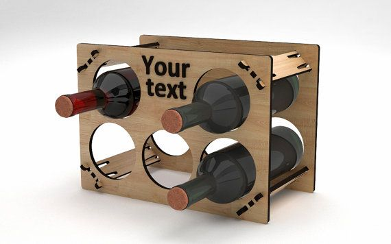 Personalized Wine Rack 118 by VigoDesigns on Etsy