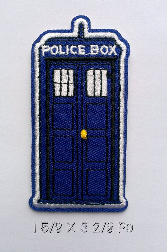 doctor who patch / iron on patch / cloth patch