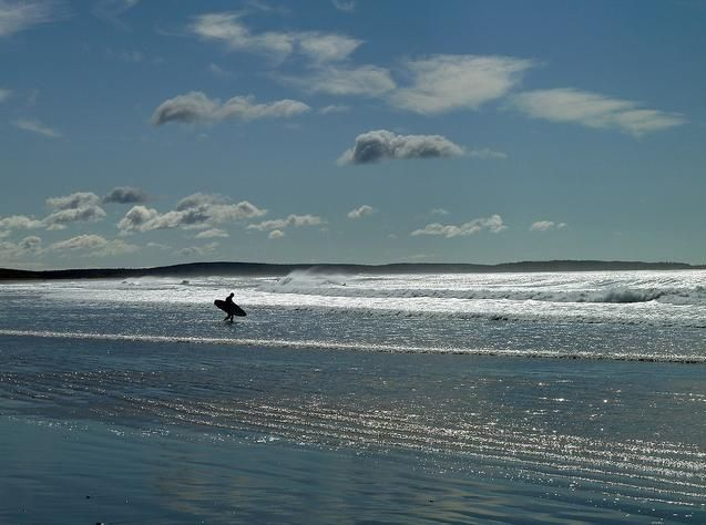 Surfer at Martinique Beach just outside Halifax! #Surf #Halifax #NovaScotia