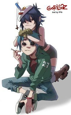 Just don't let him run away by A-KAchen.deviantart.com on @deviantART #gorillaz #2D #noodle