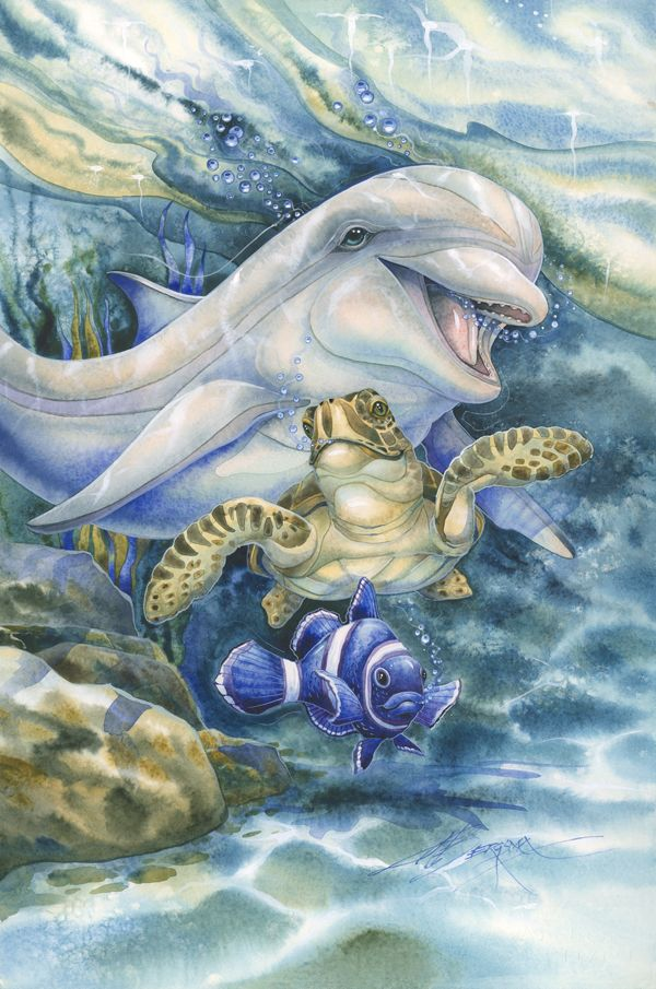 708 best the art of jody bergsma images on pinterest art for Sea life paintings artists