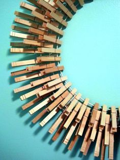 tutorial: clothespin wreath