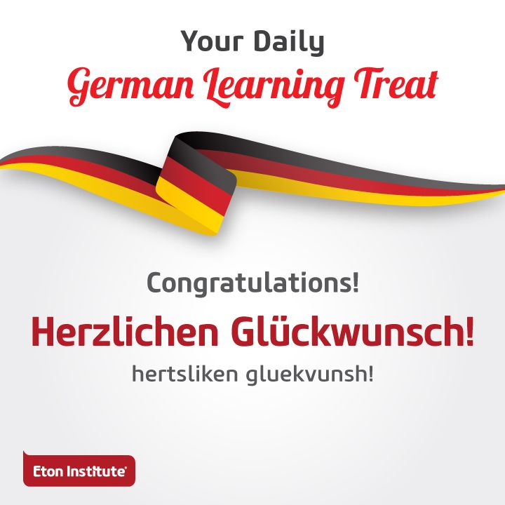 Celebrate everyday moments with family and friends! Reach out to them with a hearty 'Congratulations' in German.