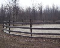 How Build a Safe Round Pen on an Extreme Budget: A round pen is used for training horses. It isn't intended for turn out.