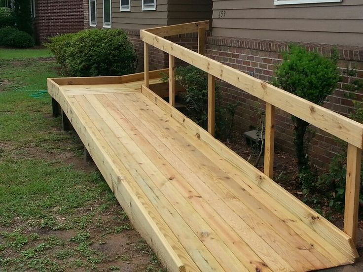 Very simple and elegant wheelchair ramp.