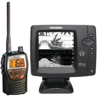 Humminbird 571 Hd Fishfinder With Cobra Mrhh 125 Marine Vhf Radio >>> Want additional info? Click on the image.