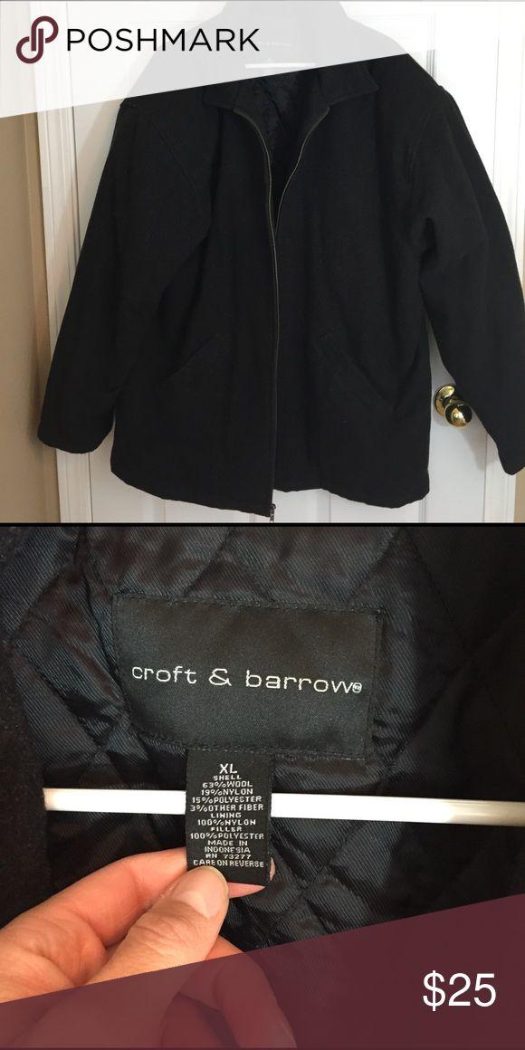 Croat and Barrow men's dress coat Dark gray dress coat for men. Zip up. Nice! croft & barrow Jackets & Coats Pea Coats
