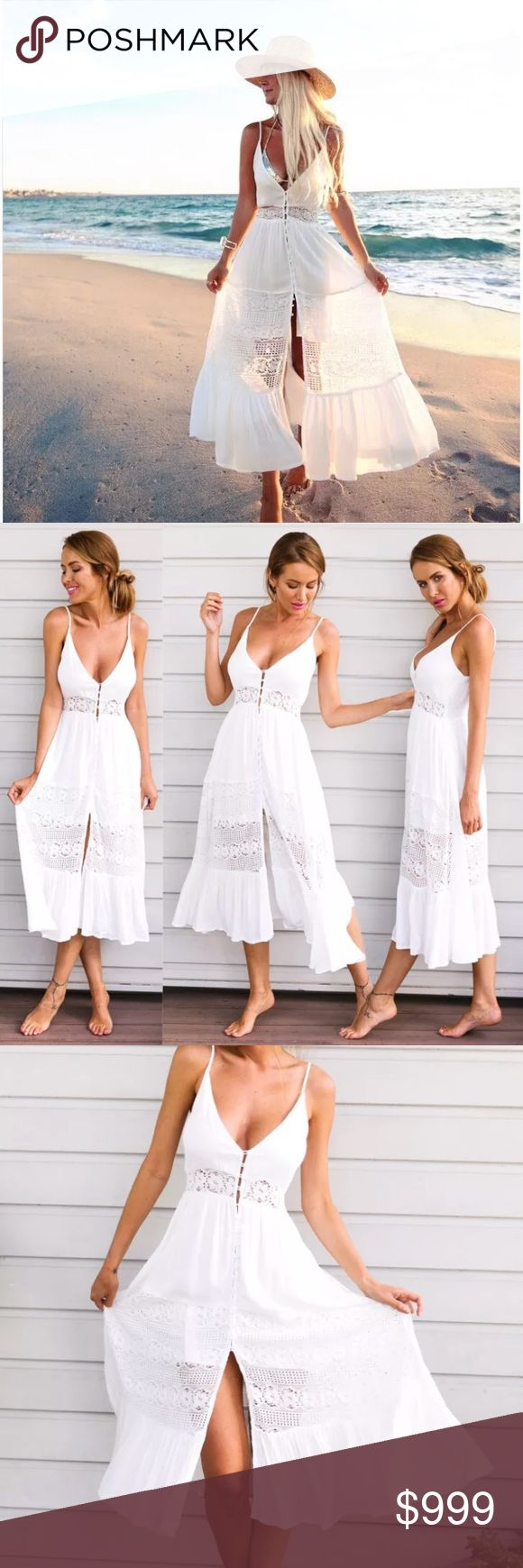 🌟P R E V I E W🌟La Bonita White Maxi Dress 🌟ARRIVING IN MARCH🌟  •Brand new unbranded boutique item •Like this listing and will tag you once the item arrives, price will be lowered •Comment with size if you want one, limited inventory •Measurements available once the item gets here •If you cannot figure out your size let me know your measurements and will tell you if it will fit or not •The way it looks on the model does not mean it will look the same on you, please keep that in mind  ©…