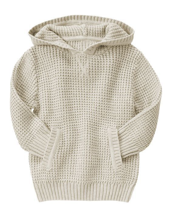 NWT Gymboree Boy S'MORE STYLE Waffle Knit Hooded Pullover Sweater Khaki 18-24 5T #Gymboree #Hoodie #CasualEverydayHoliday