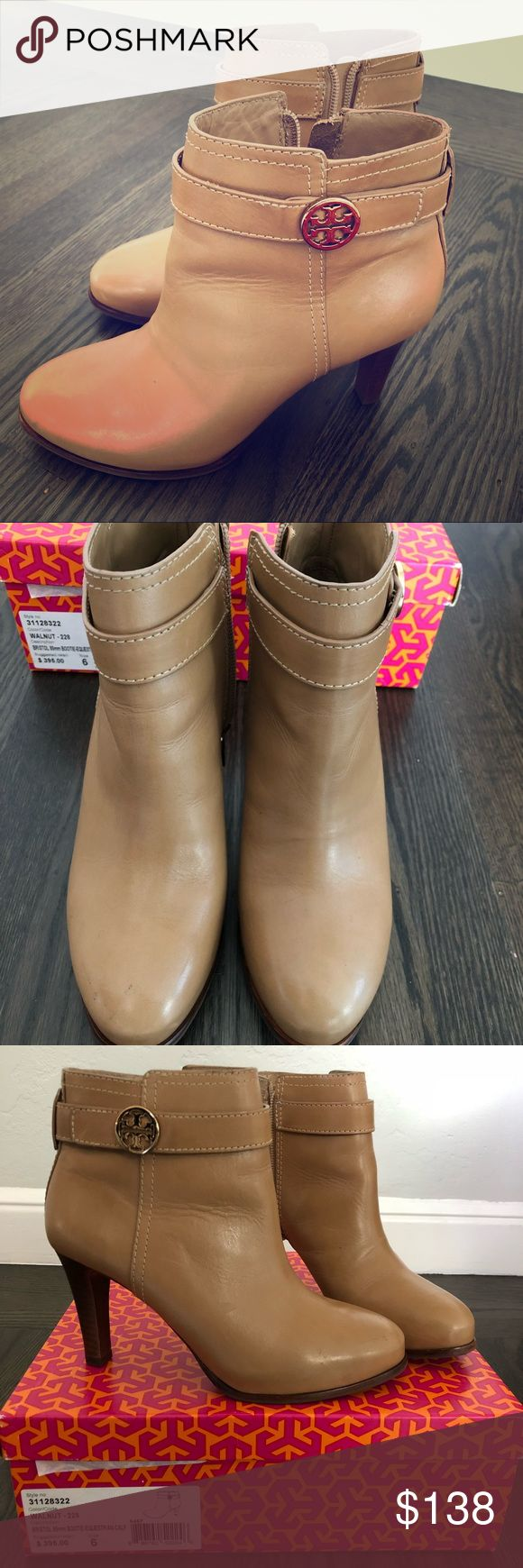 "Tory Burch Bristol Bootie Like new - only worn a few times. Size 6 with original box * the Bristol Bootie, an effortless style for day-to-evening dressing. The sleek design, made of smooth calf leather, features a convenient side zipper and small signature gold logo for a clean, minimal look.  Looks great with:  Slim pants, skinny jeans and leggings  Trumpet and pencil skirts  Full, knee-length dresses 3 1/2"" Heel.  Leather upper. Side zip closure. Round toe. Gold tone metal negative logo…"