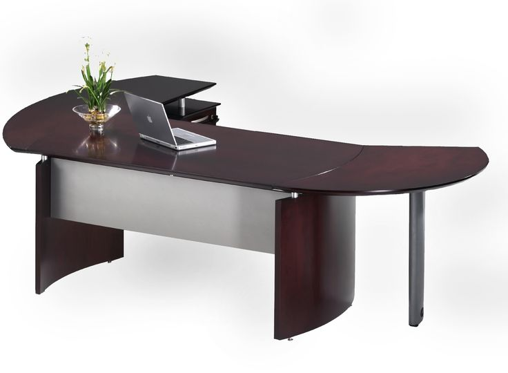 Executive Office Desk, Desk Office, Office Furniture, Curved Desk, Modern  Home Offices, Modern Homes, Office Decorations, Laptop Desk, Office Designs
