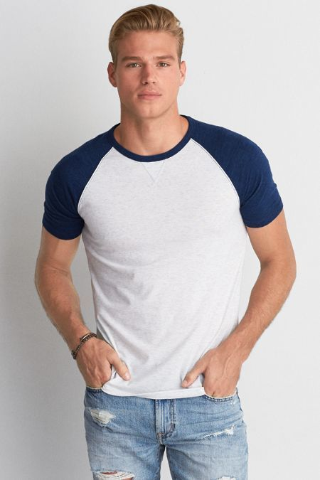 American Eagle Outfitters AEO Colorblock Crew T-Shirt
