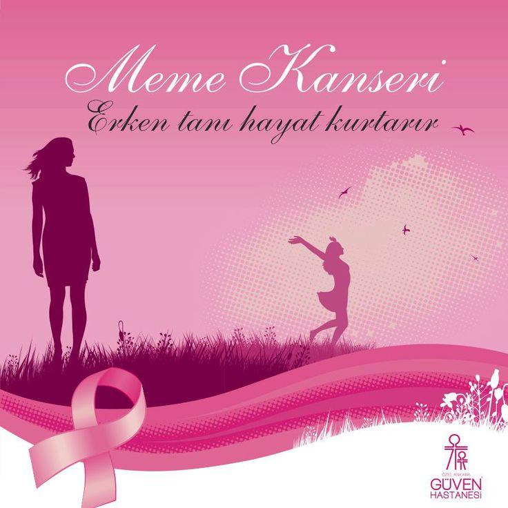 Meme kanseri; Erken tanı hayat kurtarır. http://www.guven.com.tr/haber_detay.php?a=meme-kanseri-nde-erken-tani-hayat-kurtarir