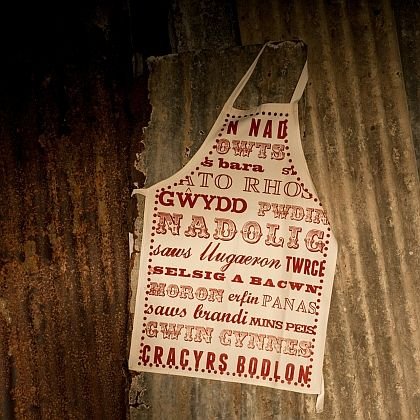 Welsh Christmas Dinner Apron