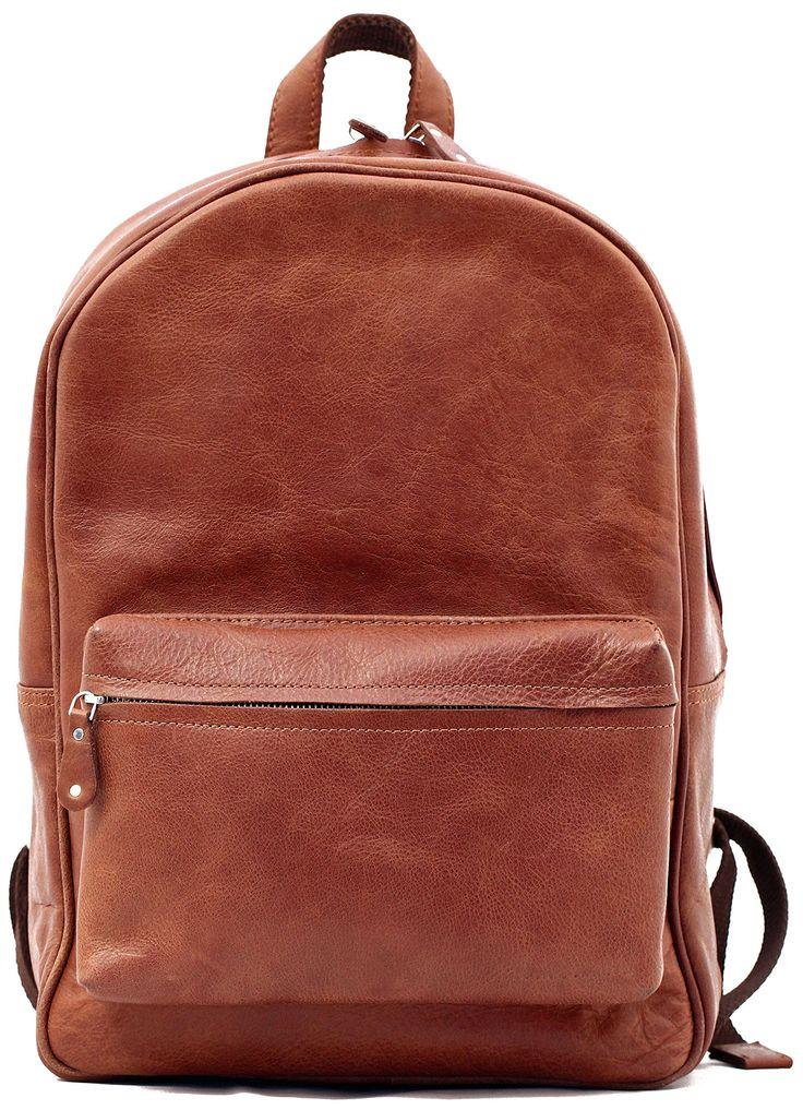 LE MARIOL Natural Bolso mochila de cuero satchel escuela PAUL MARIUS: Amazon.es: Zapatos y complementos