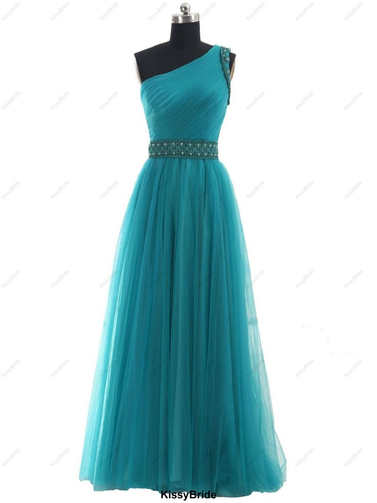 Long prom dress  blue prom dress / long evening by KissyBride, $149.00