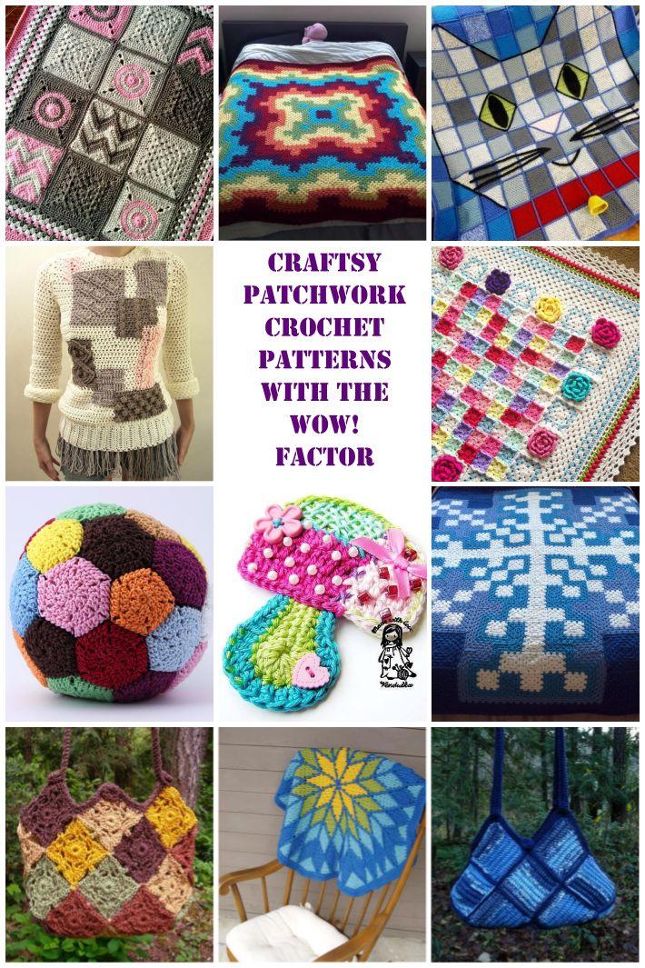 Patchwork crochet patterns on Craftsy