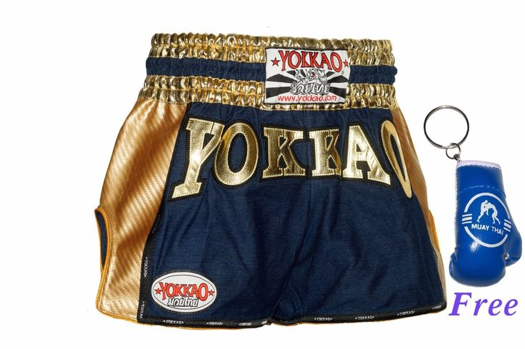 Yokkao Carbon Muay Thai Kick Boxing Shorts MMA Training Sport Trunks + Keychain