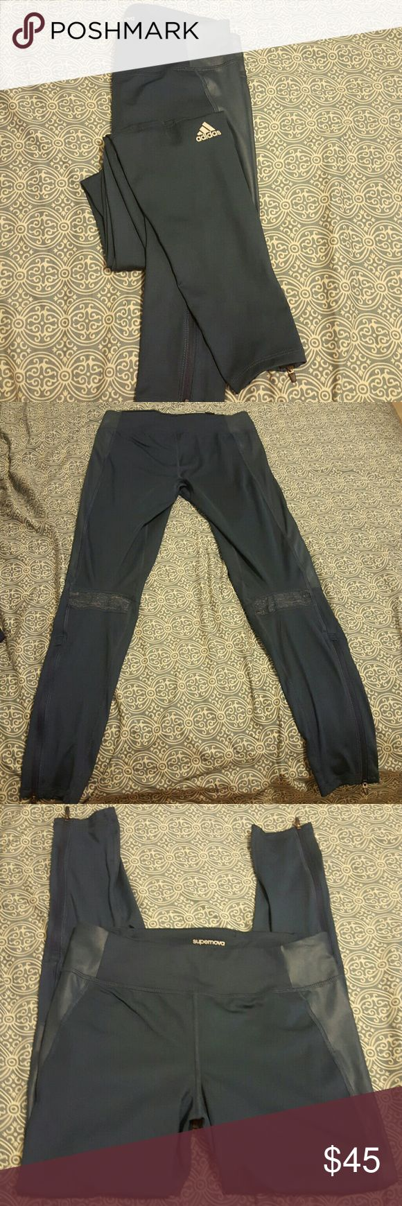 Adidas supernova tights. Adidas supernova tights. Size small great details. Zipper on ankles. Hidden zipper on the back waist. Like new. Price is firm. Adidas Pants Leggings