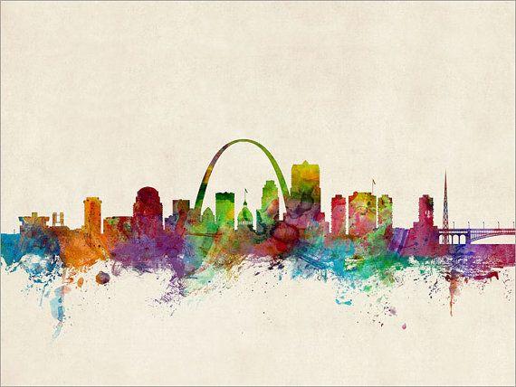 St Louis Skyline St Louis Missouri Cityscape Art Print by artPause