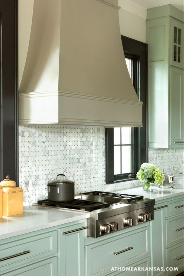 Versatile kitchen range hood style to go with country or modern kitchens