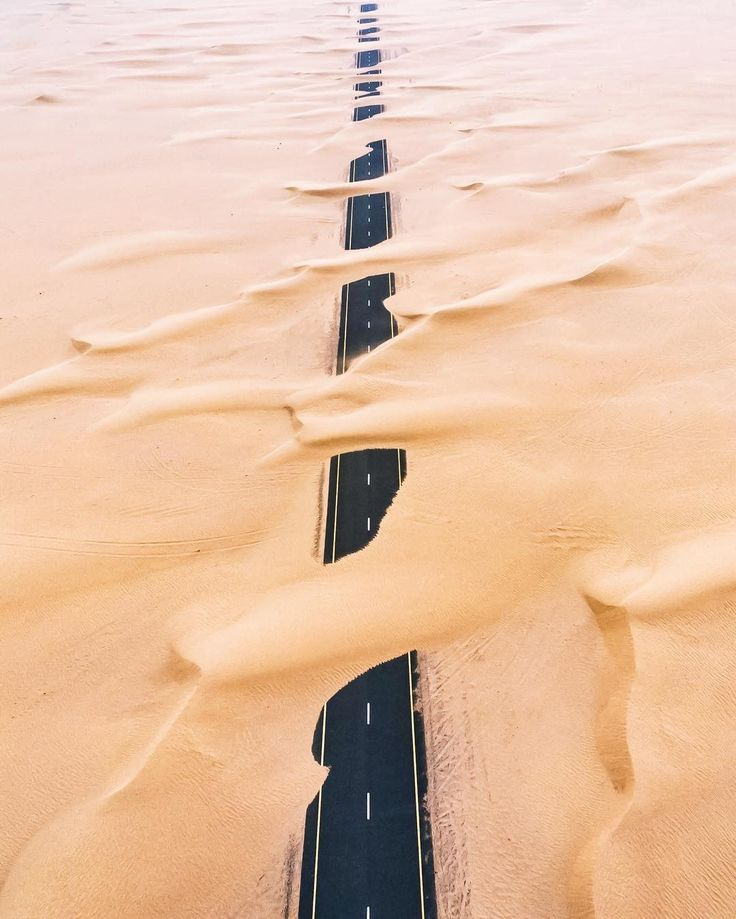 Landscape Photography | Desert winds & sand & road through