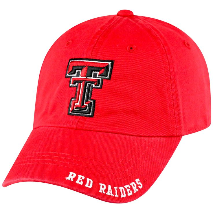 NCAA Texas Tech Red Raiders Captain Adjustable TC Baseball Hat, Men's