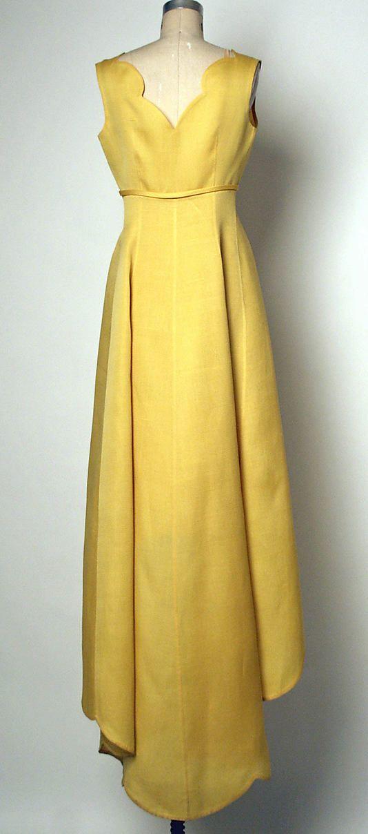 Evening dress  House of Balenciaga (French, founded 1937)  Designer: Cristobal Balenciaga (Spanish, 1895–1972) Date: ca. 1967 Culture: French Medium: silk