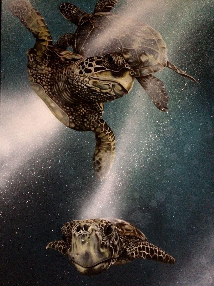 Turtles Oil on canvas