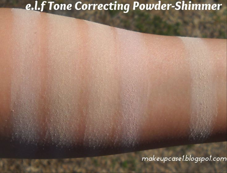e.l.f Tone Correcting Powder-Shimmer | Swatches face | Pinterest ...