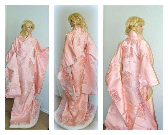 SALE Yoko Japanese Kimono Silk Robe Traditional by EventOutlet
