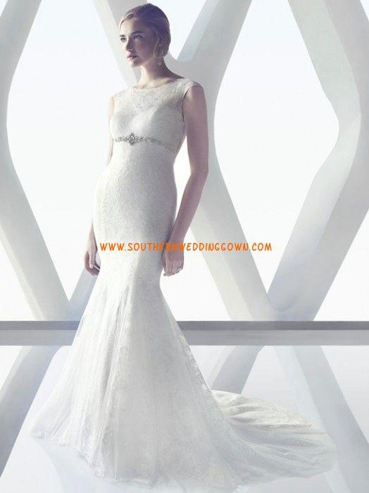 Sirène Brillant & Séduisant Empire Robes de mariée 2014