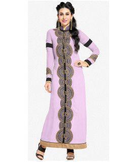 Musty Purple And Black Georgette Salwar Suit.