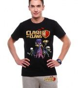Clash of Clans Witch t shirt for men COC game short sleeve tee