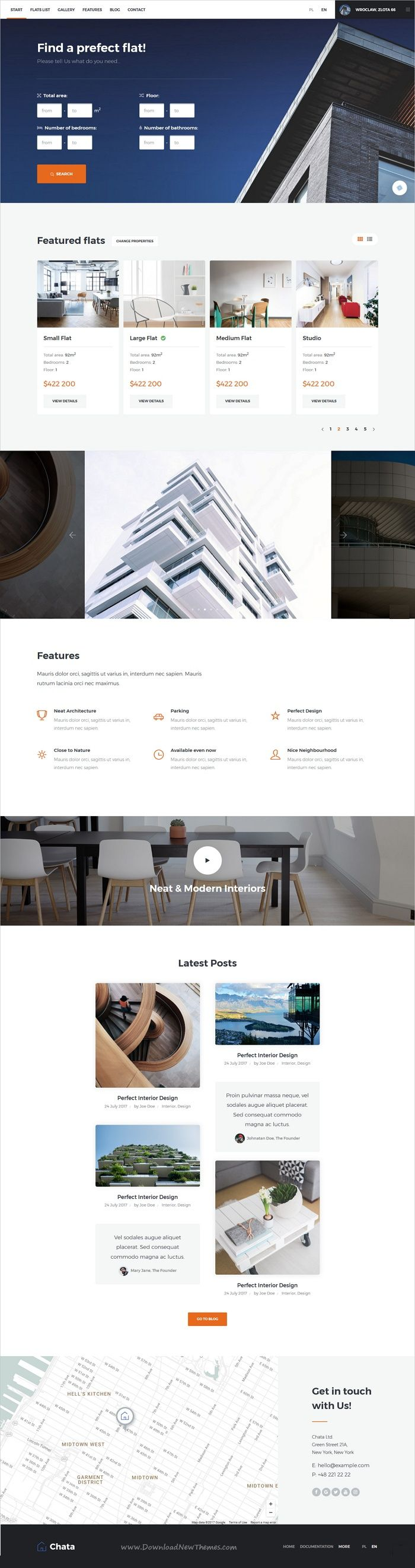 Chata is clean and modern design 4in1 responsive #HTML template for #property, professional real estate and #architecture agencies eCommerce website download now..