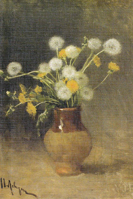 Dandelions,  Isaac Levitan. 1889 by Vetrovosk2012, via Flickr