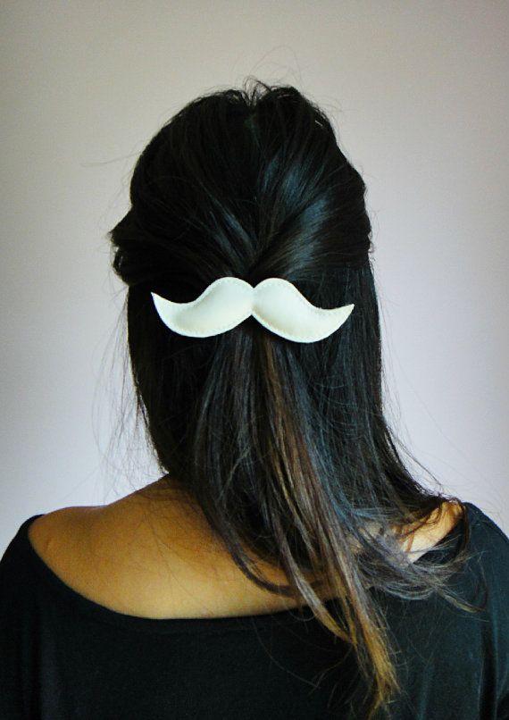 Moustache hair clip. I love it!
