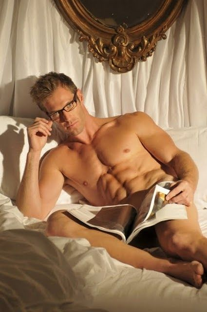 Image result for sexy men reading