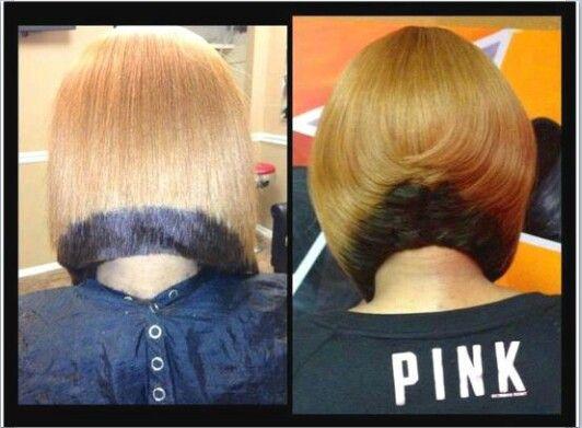 cute work hairstyles : Cute bob sew in Hair Pinterest Protective styles, Cute bob and ...
