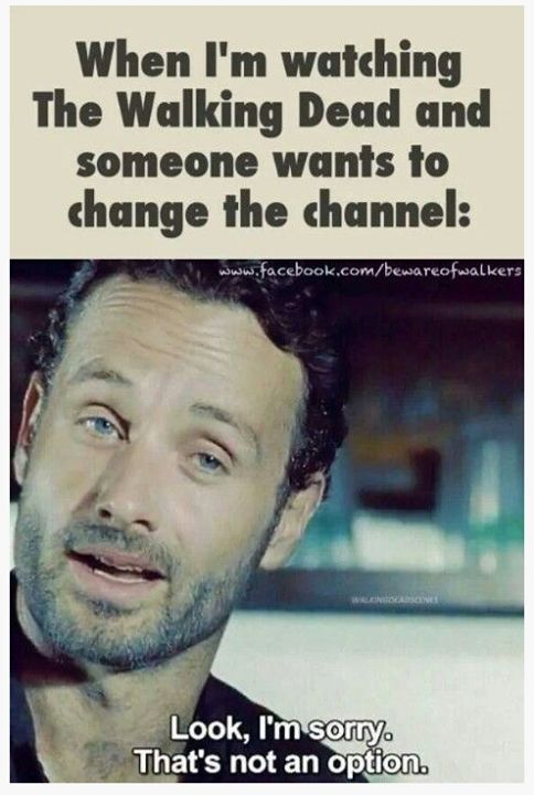 One does not simply, change the channel.