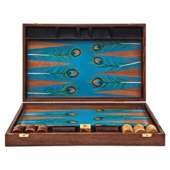 peacock backgammon board by alexandra - Backgammon Game