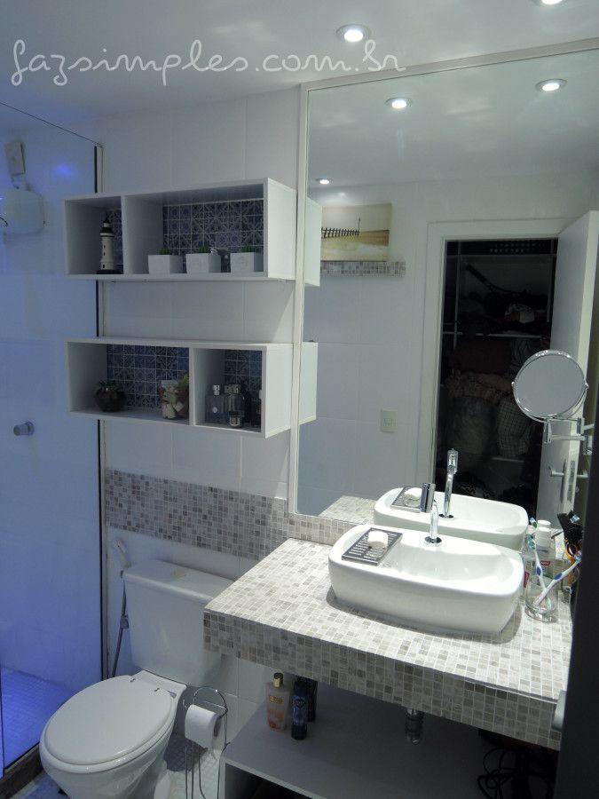 25 melhores ideias de banheiro antes depois no pinterest - Reformas pisos pequenos ...