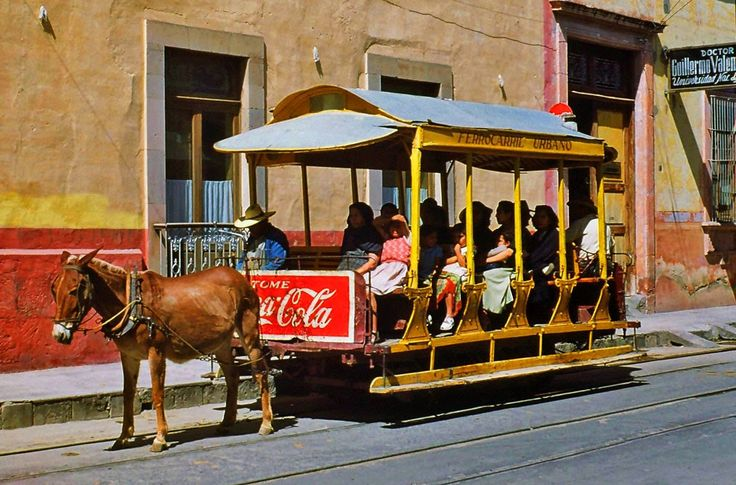 Streetcars in Celaya and Tampico, Mexico, in 1953
