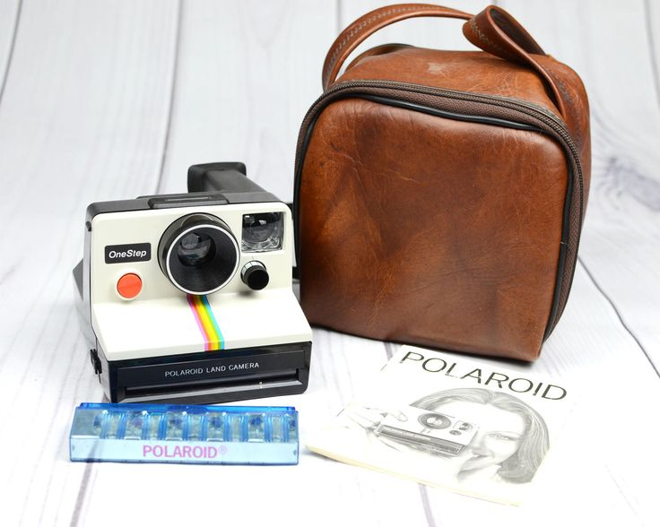 Vintage Polaroid One Step Land Camera White Rainbow SX-70 Instant Film Camera with Bag by ValueBliss on Etsy