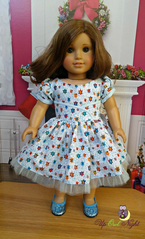 Hanukkah Dress and Sparkly Shoes American by upowlnightcrafting